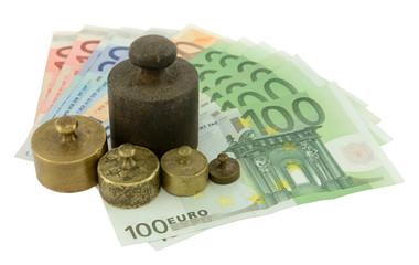 Weights on Euro money