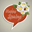 Happy Spring speech bubble