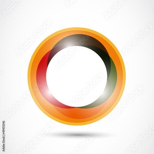 bright colorful circle