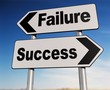 Success - failure road sign