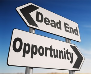 Dead End - Opportunity Two-way sign