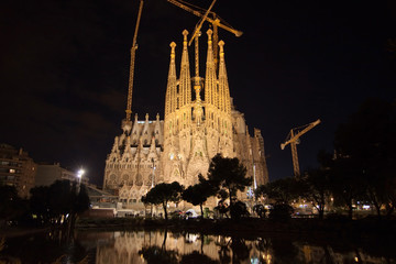 Sagrada Familia at night