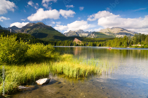 Strbske Pleso, lake in Slovakia in High Tatras