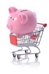 piggy shopping trolly