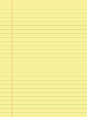 Yellow Notepad Page