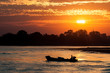 Sunset on the Irrawaddy river in Myanmar