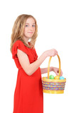 child with an easter basket