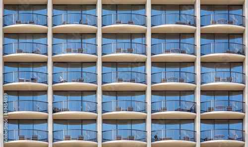 Pattern of hotel room balconies