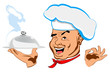 Chef and best food for Gourmet.Restaurant business. Vector