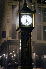 Vancouver steam clock in Gastown close-up