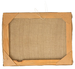 Back view of a picture frame.