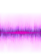 Pink sound wave on white background.    EPS8