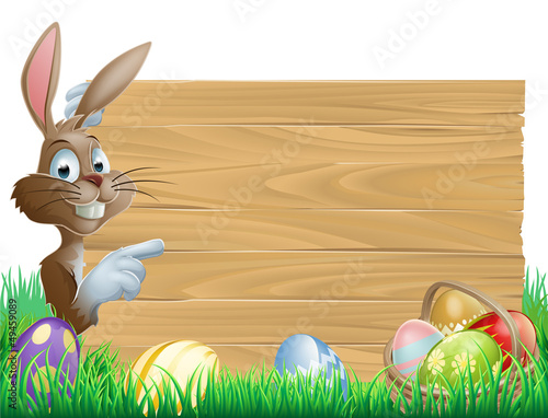 Easter Eggs Wooden Sign