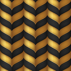 Abstract black and gold seamless background