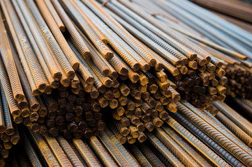 Rust steel rod or bars