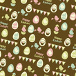 Happy Easter retro seamless pattern.