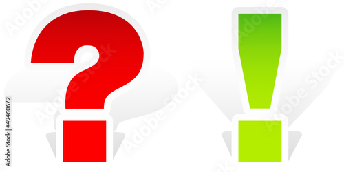 Interrogation & Exclamation Point Red/Green