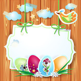 Fantasy background with Easter eggs