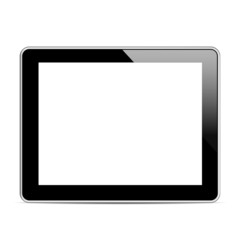 Black tablet computer (tablet pc)