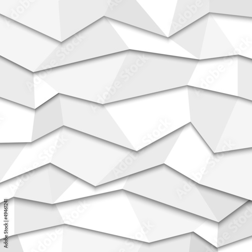 3d white paper background - origami style