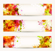 Set of three headers. Bright Abstract artistic Backgrounds.