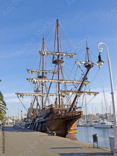 Old Frigate. Port of Barcelona