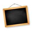 little blackboard on white