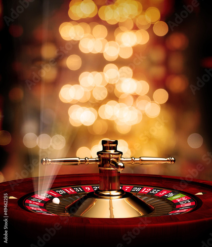 roulette soft background with rays poster - 49462255
