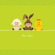 Schaf, Hase & Ente Grün Punkte