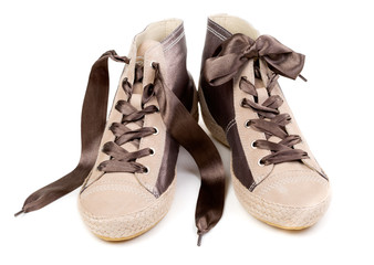 Pair of fashionable sneakers, isolate