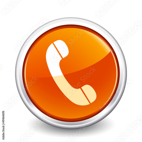 button orange phone