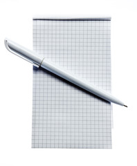Square stripped notepad with pen