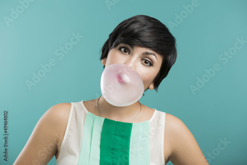 Girl with a bubble gum
