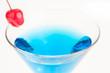 Blue Citrus Martini extreme close up