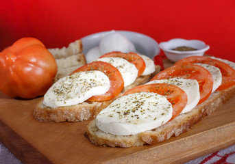 "The ""Caprese"", mozzarella cheese and tomatoes - Italian recipe"