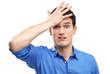 Man slaps himself on head