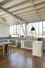 beautiful kitchen of a loft