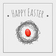 red egg, Easter symbols greeting card