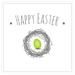Easter egg symbol, isolated, greeting card