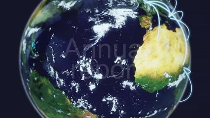 annual report globe terrestre terre