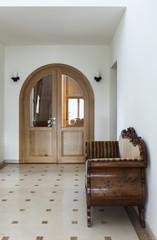 corridor with antique sofa