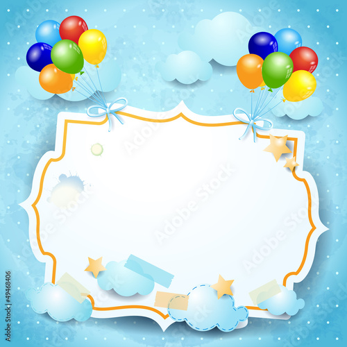 Balloons and custom board