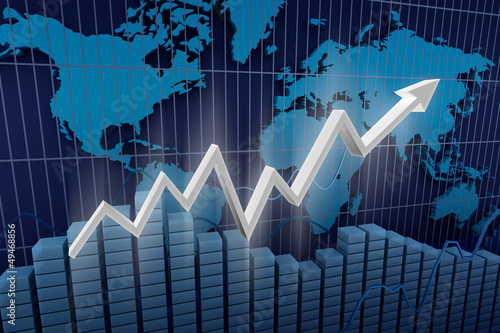 Business. Income diagram background.