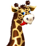 Giraffe's Head Funny Cartoon Character - Testa Giraffa Buffa