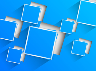 Blue background with blue squares