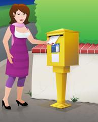 Mag expédie une lettre par la poste