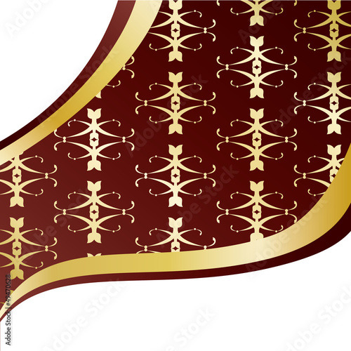 Vintage Golden Pattern Background