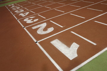 Running track in the athletics gym