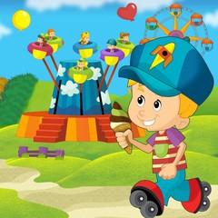 The funfair - illustration for the children