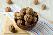 Walnuts in the bowl